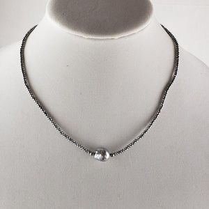 Jewelry - Pearl & metal bead necklace-NWOT